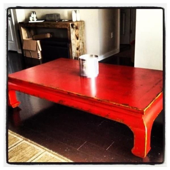 Amazing New Red Coffee Table Pertaining To Modern Red Coffee Table Coffee Tables Table And Estate (Image 3 of 50)