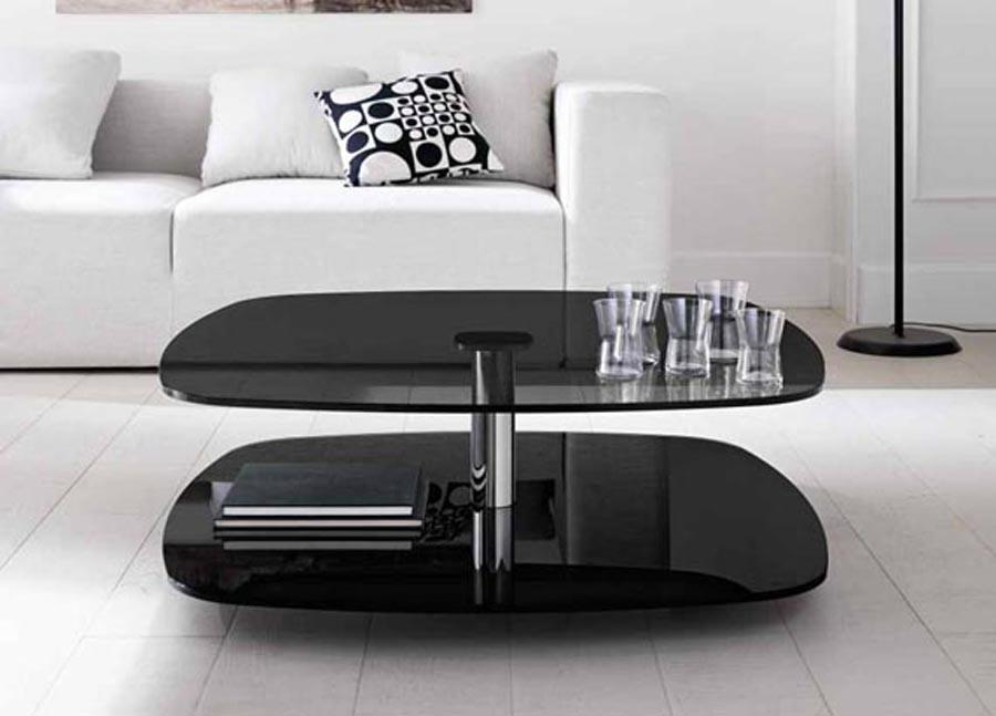 Amazing New Retro Glass Coffee Tables Intended For Black Glass Coffee Table Contemporary Modern Retro Modern Retro (Image 4 of 50)