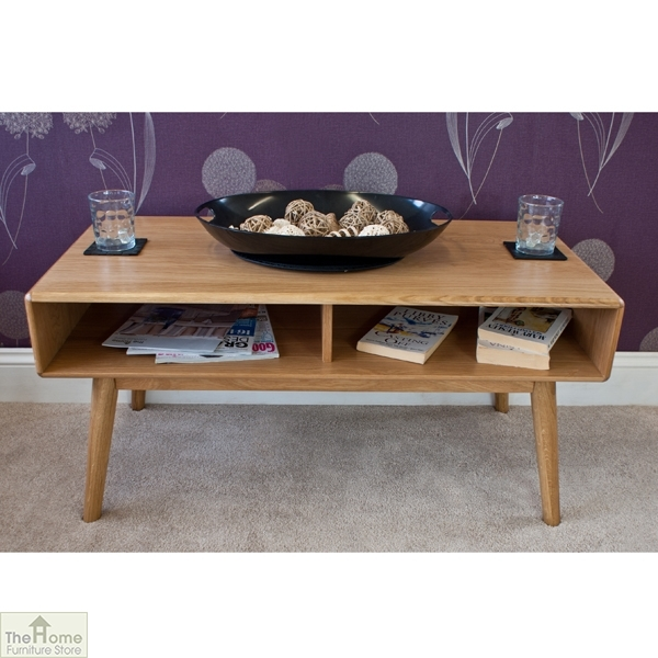 Amazing New Retro Oak Coffee Tables With Regard To Casamor Retro Style Oak Coffee Table The Home Furniture Store (Image 2 of 50)