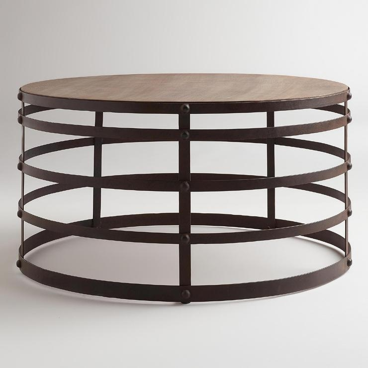 Amazing New Round Steel Coffee Tables In Round Wooden Coffee Table Products Bookmarks Design (Image 3 of 50)