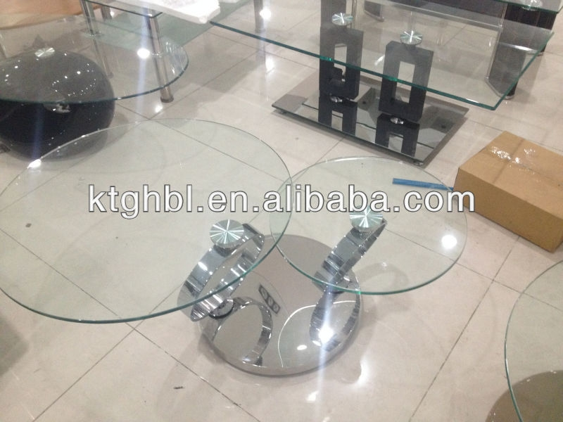 Amazing New Round Swivel Coffee Tables Regarding Modern Swivel Small Round Glass Coffee Table Buy Swivel Glass (View 26 of 50)