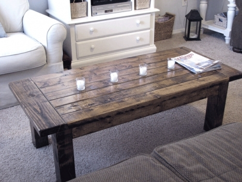 Amazing New Rustic Coffee Tables With Bottom Shelf For Attractive Ana White Coffee Table As Well As How To Make A Rustic (Image 4 of 50)