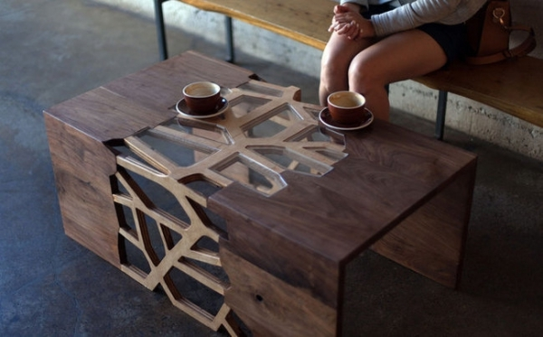 Amazing New Wood Modern Coffee Tables Intended For Gradient Matter Modern Wooden Coffee Table Adorable Home (Image 1 of 50)