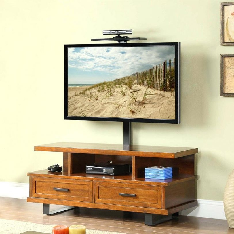 Amazing New Wood TV Stands With Swivel Mount Regarding Swivel Mount Tv Stand Flideco (Image 2 of 50)