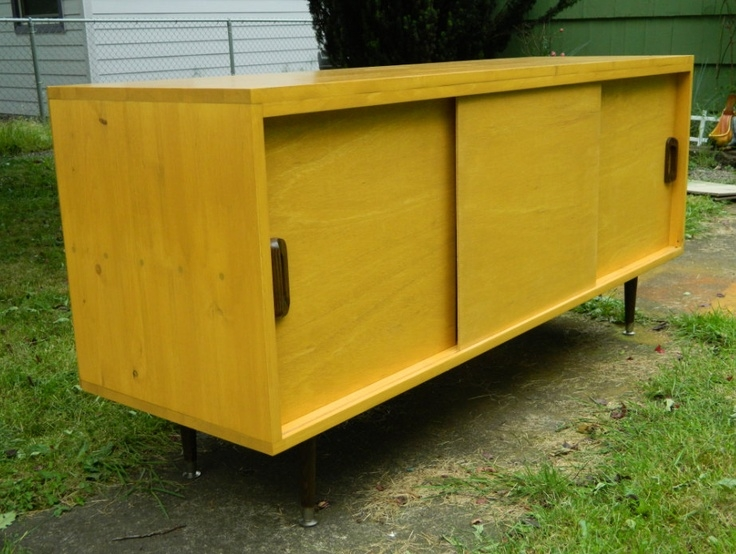 Amazing New Yellow TV Stands In Mid Century Inspired Danish Modern Tv Stand Credenza Entertainment (View 49 of 50)
