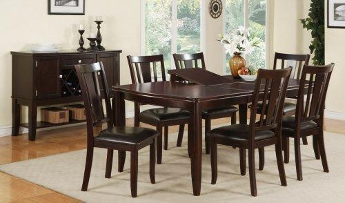 Amazing Of Dining Table And Six Chairs Walnut Burl Wood Dining With Regard To Dining Tables And Six Chairs (Image 2 of 20)