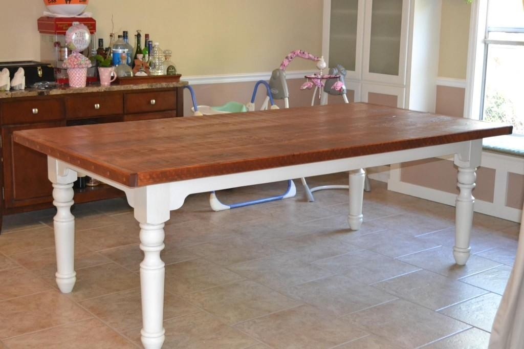 Amazing Of Dining Table White Legs Wooden Top Best Images About With Regard To Dining Tables With White Legs (Image 2 of 20)