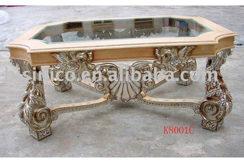 Amazing Popular Antique Glass Coffee Tables Throughout Piece Coffee Table Set Marble Top Living Room End Tables Furniture (Image 2 of 40)