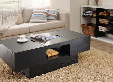 Amazing Popular Black Coffee Tables With Storage Intended For Coffee Table New Black Coffee Table With Storage Ideas Coffee (Image 2 of 40)