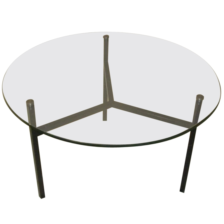 Amazing Popular Circular Glass Coffee Tables Regarding Alluring Round Glass Coffee Table Metal Base Large Round Metal (Image 2 of 50)