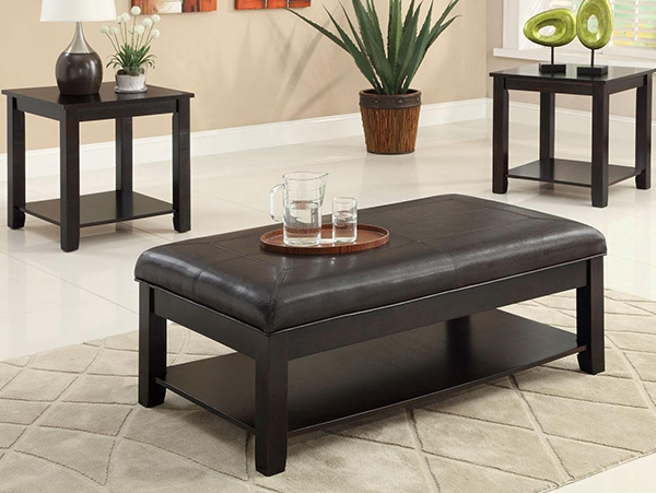 Amazing Popular Footstool Coffee Tables Pertaining To Coffee Table Chesterfield Thickly Upholstered Coffee Table (Image 3 of 40)