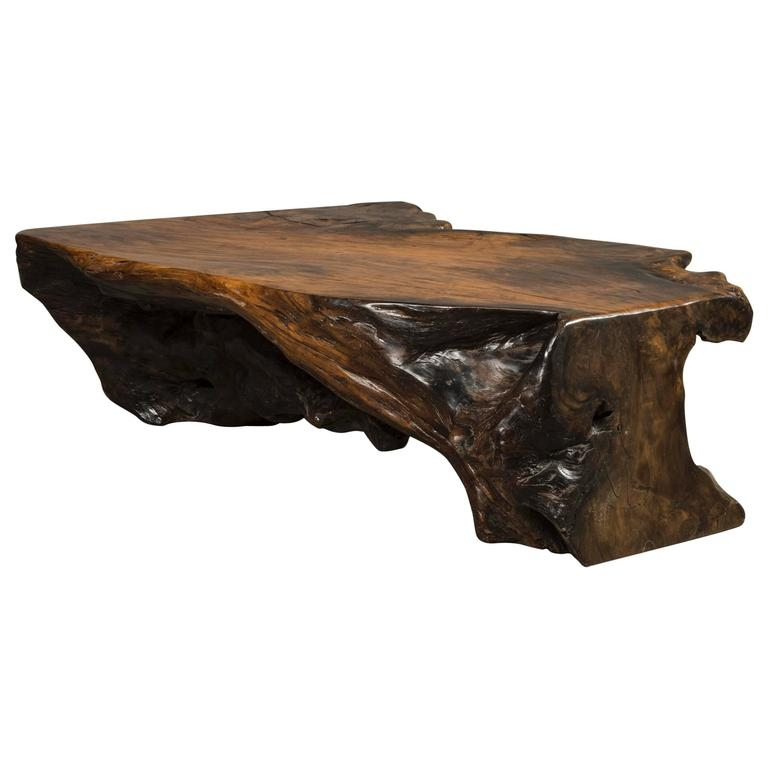 Amazing Popular Free Form Coffee Tables Within Coffee Table Free Form Made Of Narra Root Wood For Sale At 1stdibs (Image 2 of 40)