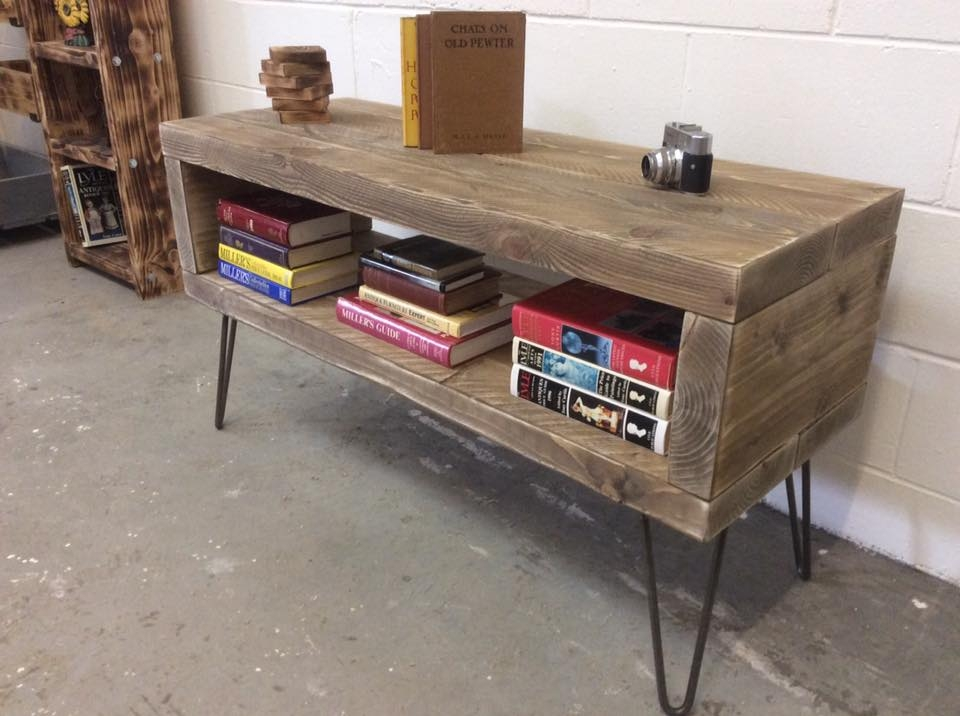 Amazing Popular Hairpin Leg TV Stands Intended For Reclaimed Wood Tv Stand And Bookshelf Diy And Crafts (Image 4 of 50)