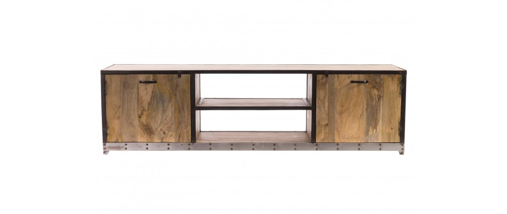 Amazing Popular Industrial Style TV Stands Pertaining To Industrial Style Tv Stand 70 Industria Miliboo (View 14 of 50)