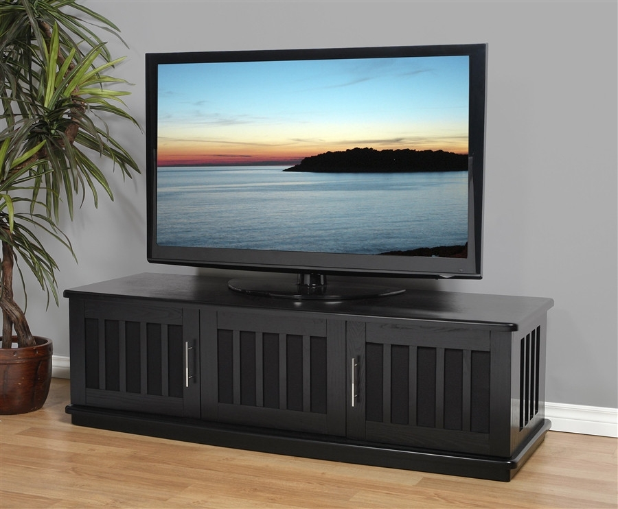 Amazing Popular Long Black TV Stands For Tv Stands Elegant Design Tv Stand With Doors Ideas Images (View 12 of 50)