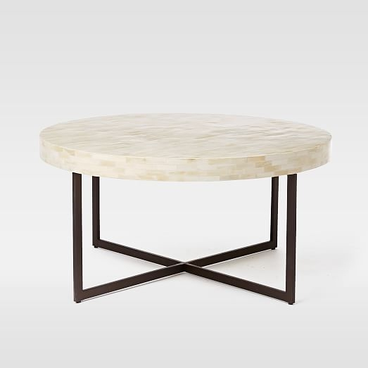 Amazing Popular Low Coffee Tables Within Low Bone Coffee Table West Elm (Image 4 of 40)