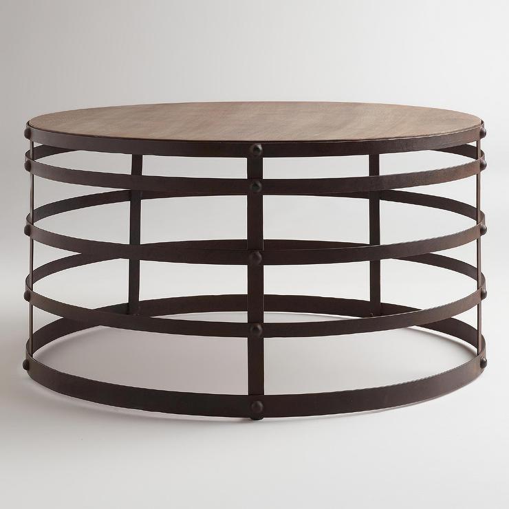 Amazing Popular Metal Round Coffee Tables Inside Beautiful Round Coffee Table Metal Hammary Furniture Hammary (Image 3 of 50)