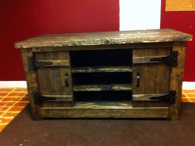 Amazing Popular Rustic TV Stands For Sale Regarding Walmart Fireplaces Images Fish Camp Beach Cottage Beach Style (Image 1 of 50)