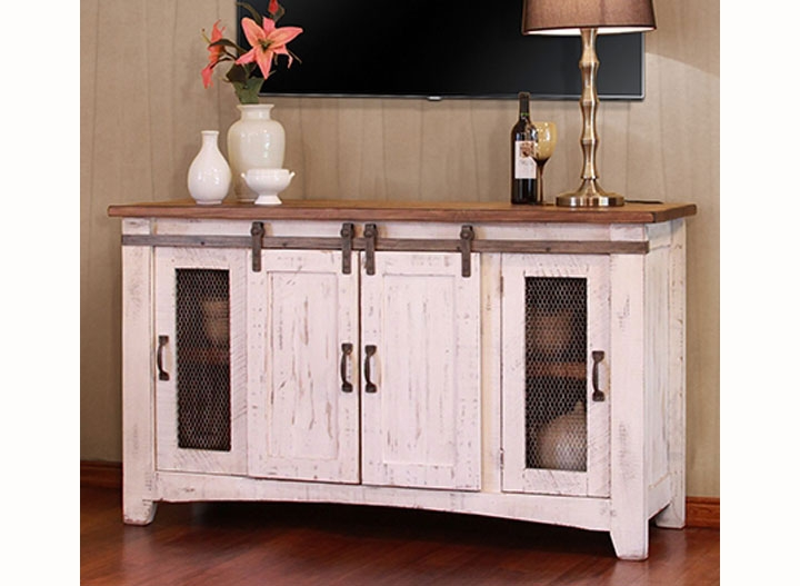 Featured Image of Rustic White TV Stands