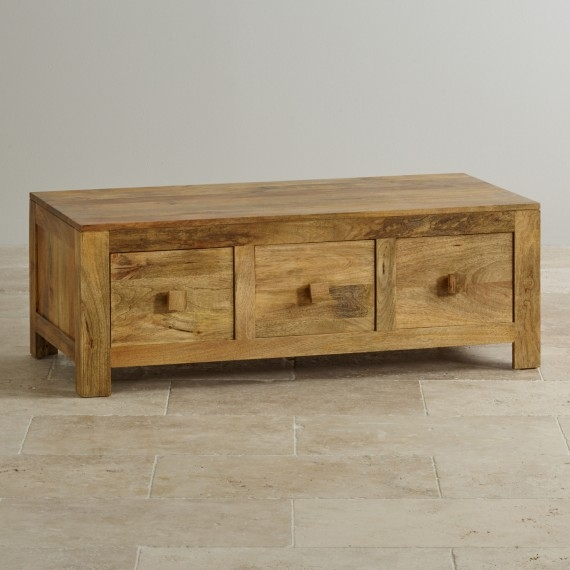 Amazing Popular Solid Oak Coffee Table With Storage With Solid Oak Mango Painted Coffee Tables Oak Furniture Land (Image 3 of 50)