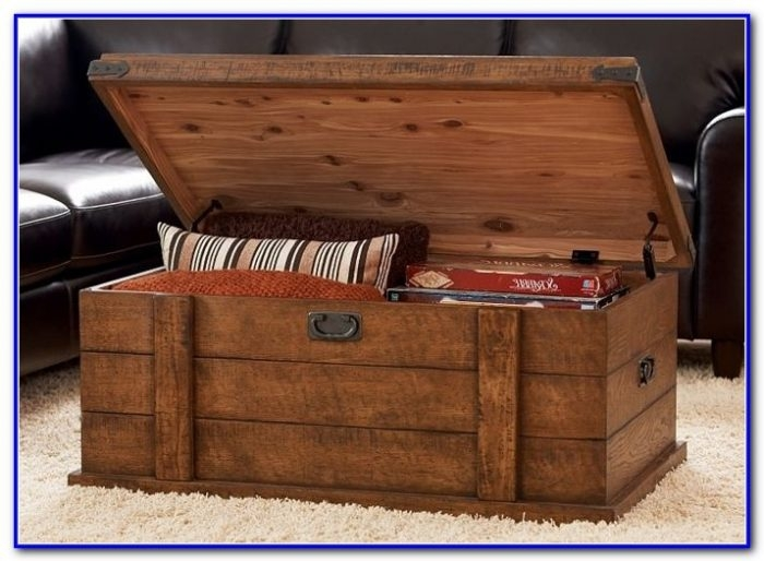Amazing Popular Storage Trunk Coffee Tables Pertaining To Storage Trunk Coffee Table Plans Coffee Table Home Furniture (Image 6 of 50)