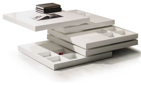 Amazing Popular White Coffee Tables With Storage Intended For Modern White Square Coffee Table Table And Estate (View 32 of 50)