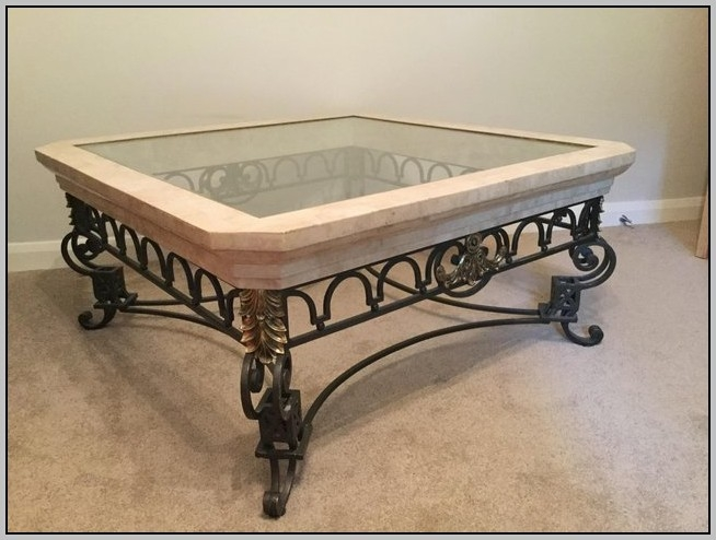 Amazing Popular Wrought Iron Coffee Tables Intended For Wrought Iron Glass Coffee Tables Coffee Table Home Decorating (Image 4 of 50)