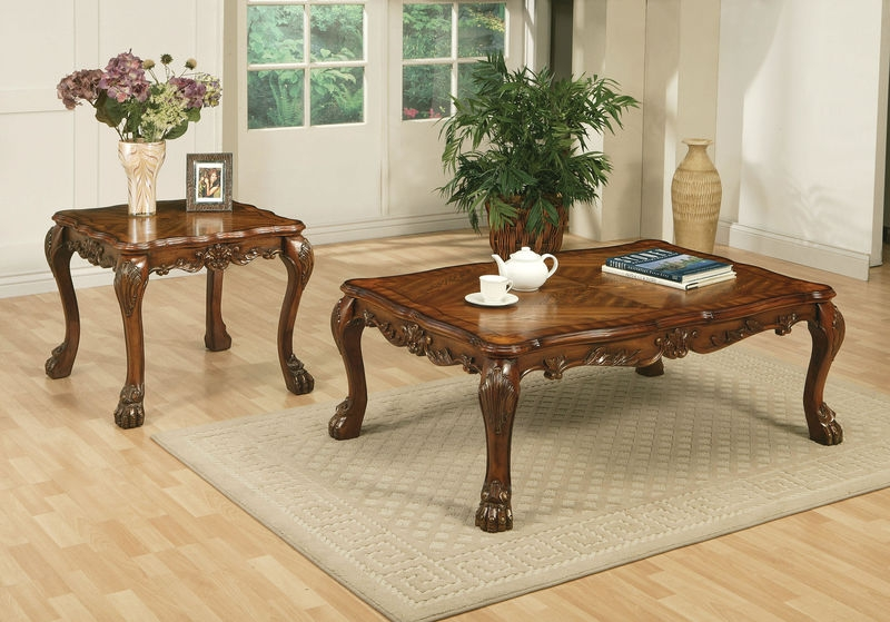 Amazing Preferred Cherry Wood Coffee Table Sets With Dallas Designer Furniture Dresden Coffee Table Set In Cherry (View 31 of 50)