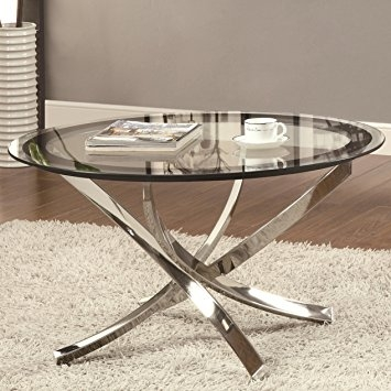 Amazing Preferred Chrome Coffee Tables Intended For Amazon Coaster Home Furnishings 702588 Contemporary Coffee (Image 4 of 50)
