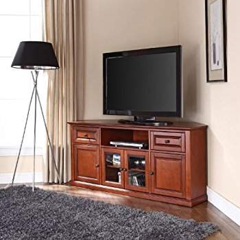 Amazing Preferred Corner TV Stands For 60 Inch TV With Amazon Leick Westwood Corner Tv Stand 60 Inch Cherry (Image 4 of 50)