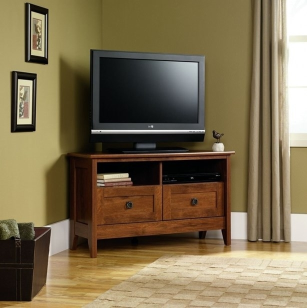Amazing Preferred Cream Corner TV Stands With The Incredible And Interesting Cream Corner Tv Stand For Your Home (Image 1 of 50)