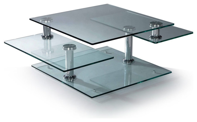 Amazing Preferred Glass Chrome Coffee Tables Pertaining To Perfect Glass Chrome Coffee Table On Fahrenheit Coffee Table (Image 2 of 40)