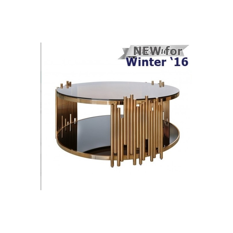 Amazing Preferred Glass Circular Coffee Tables With Regard To Round Glass Coffee Table Gold (Image 2 of 50)