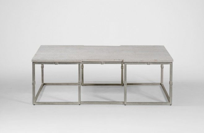 Amazing Preferred Grey Wood Coffee Tables Regarding Coffee Table Grey Wood Rectangular Brushed Silver Alden (Image 2 of 50)
