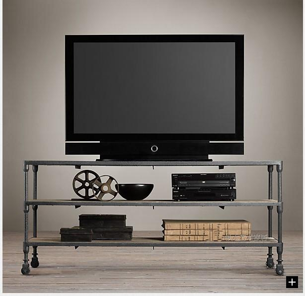 Amazing Preferred Industrial TV Cabinets Inside Country Loft Industrial Iron Welding Tv Cabinet Retro Rustic (Image 1 of 50)