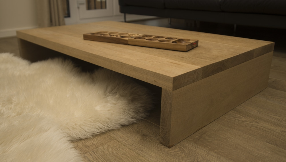 Amazing Preferred Large Low Oak Coffee Tables With Solid Oak Dining Room Table Bench And Stools (Image 8 of 50)