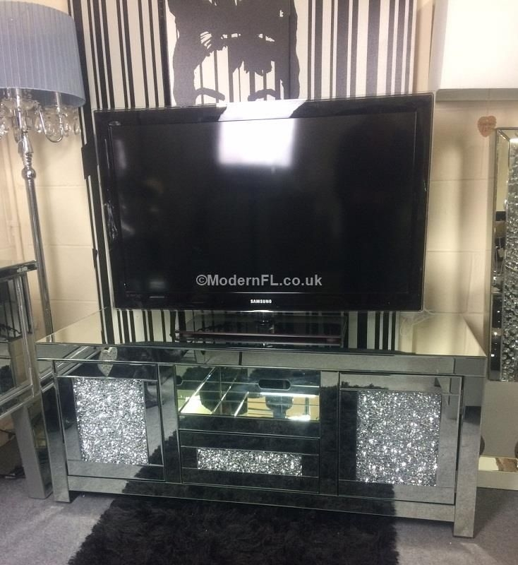 Amazing Preferred Luxury TV Stands Pertaining To Luxury Mirrored Crushed Crystal Tv Stand (Image 5 of 50)