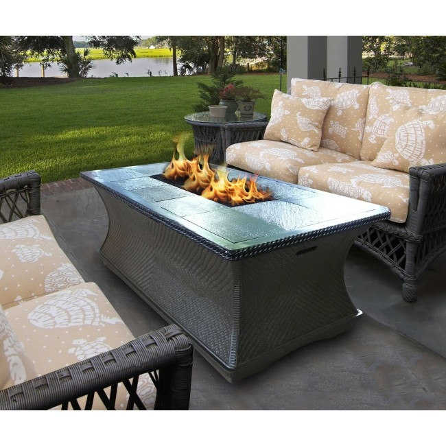 Amazing Preferred Monterey Coffee Tables With Outdoor Concepts Monterey Coffee Table Fire Pit (Image 1 of 50)