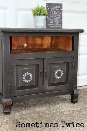 Amazing Preferred Small Black TV Cabinets Throughout Tv Stands Black Wood Foter (Image 4 of 50)