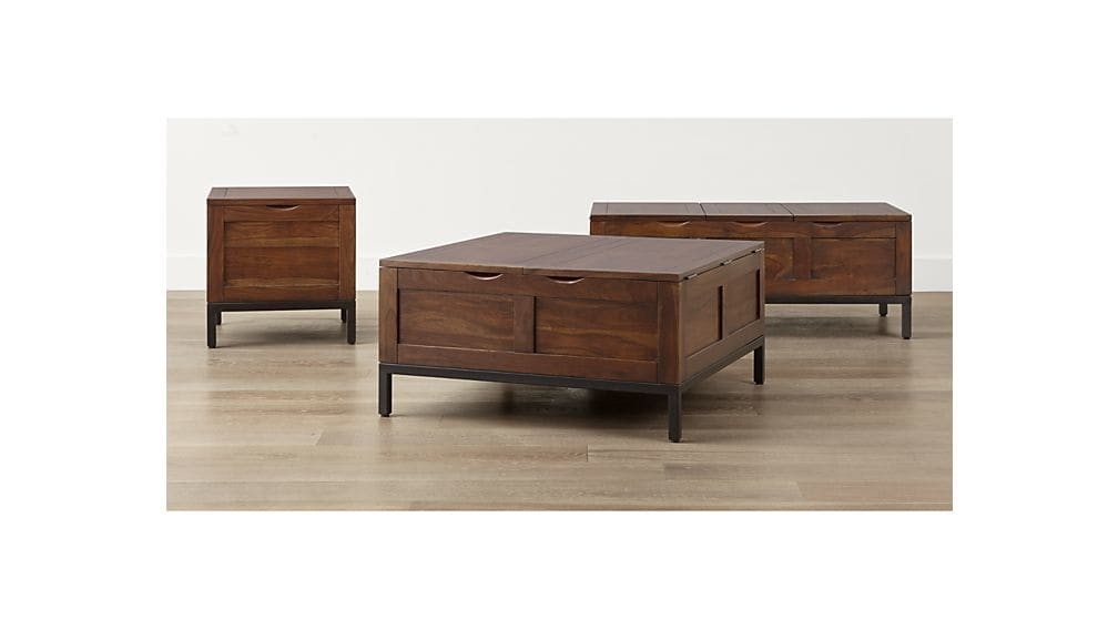 Amazing Preferred Square Chest Coffee Tables Within Tucker Square Trunk Crate And Barrel (View 20 of 50)