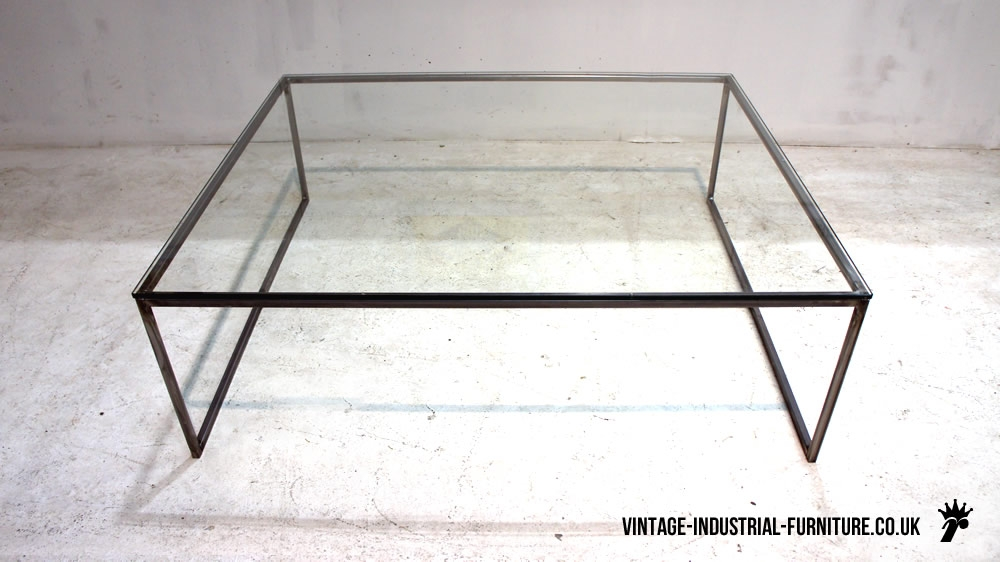 Amazing Preferred Steel And Glass Coffee Tables Intended For Glass And Metal Coffee Table Sets (Image 1 of 50)