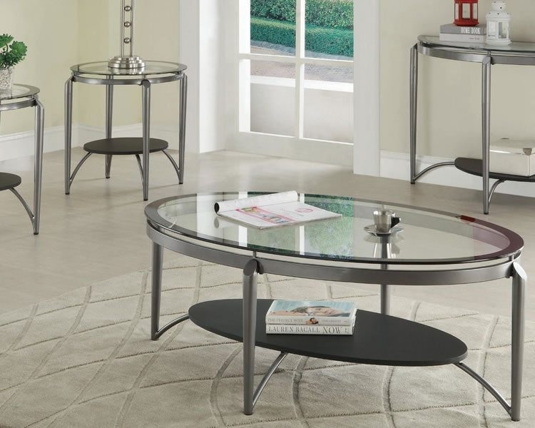 Amazing Preferred Steel And Glass Coffee Tables Intended For Oval Metal Glass Coffee Tables (Image 2 of 50)