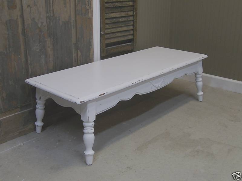 Amazing Preferred White Retro Coffee Tables Pertaining To Vintage White Coffee Table (View 30 of 50)