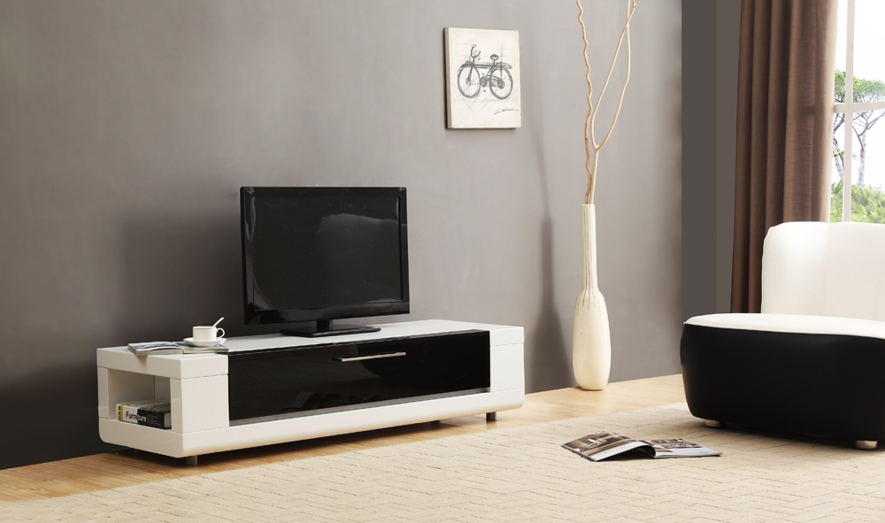 Amazing Premium BModern TV Stands In B Modern Editor Remix Mini Tv Stand White High Gloss B Modern (Image 2 of 50)