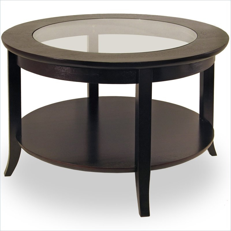 Amazing Premium Black Wood And Glass Coffee Tables Within Dark Wood Coffee Table (Image 1 of 49)