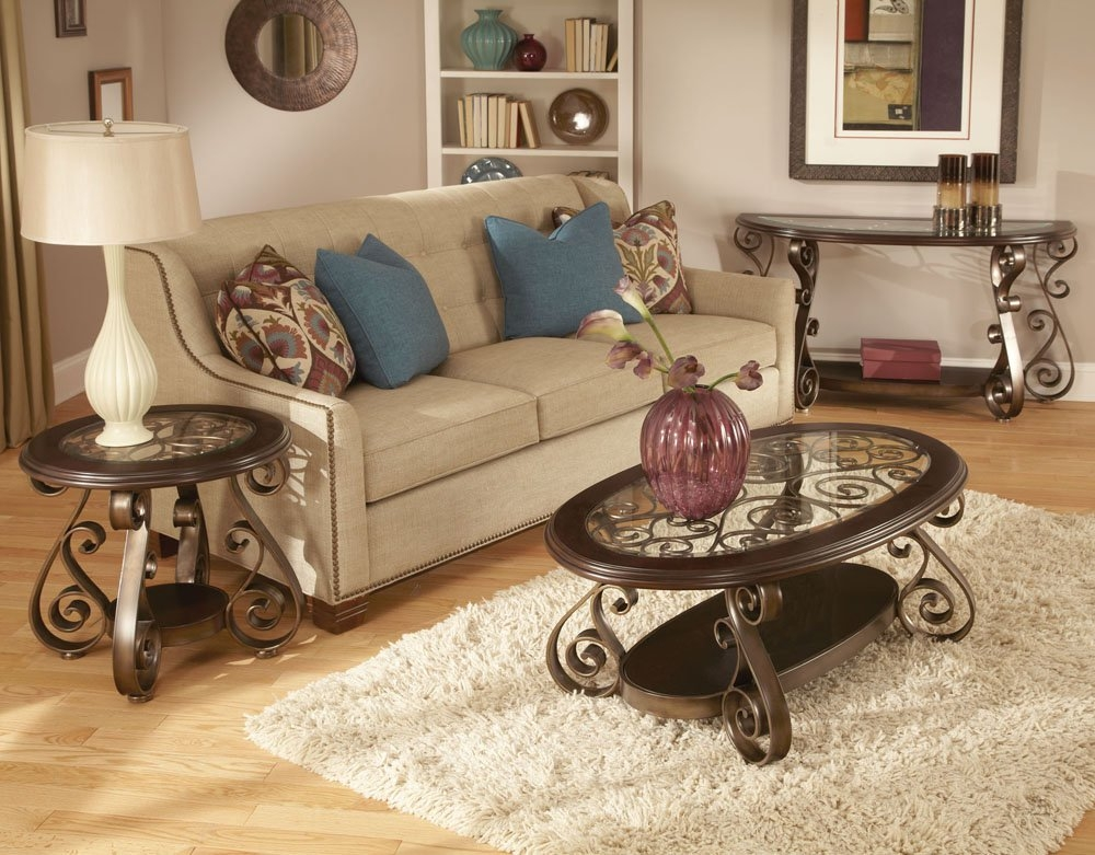 Amazing Premium Bombay Coffee Tables Pertaining To Standard Furniture Bombay 3 Piece Glass Top Coffee Table Set In (View 12 of 50)