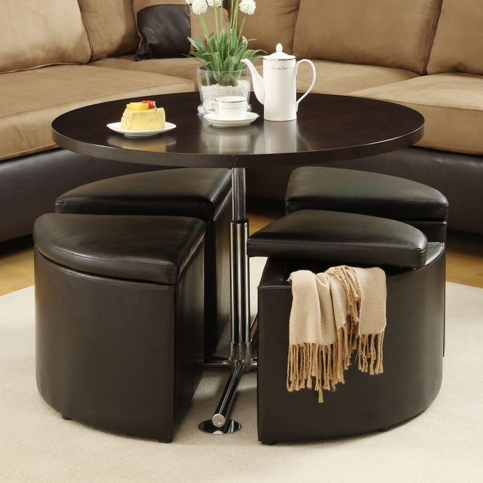 Amazing Premium Coffee Tables With Seating And Storage Pertaining To Hydraulic Lift Coffee Table With Ottomans Brookstone (Image 4 of 50)