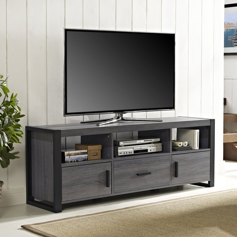 Amazing Premium Emerson TV Stands With Grey Tv Stands Youll Love Wayfair (Image 5 of 50)
