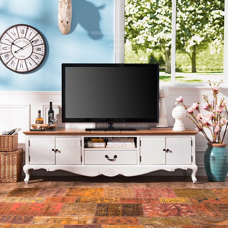 Amazing Premium French Country TV Cabinets Pertaining To Odd Ranks Yield Us Kang Side Elm Wood Furniture French Country (Image 6 of 50)