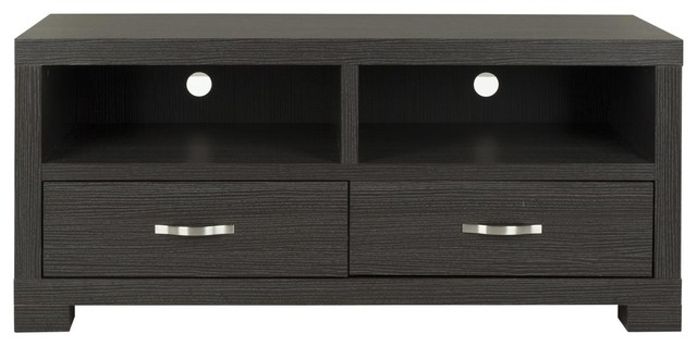 Amazing Premium Grey TV Stands Within Monroe 2 Drawer Tv Cabinet Entertainment Centers And Tv Stands (Image 2 of 50)